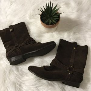 SAM & LIBBY Boots Brown Leather sz 7